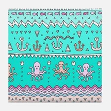 Sea Lines Tile Coaster
