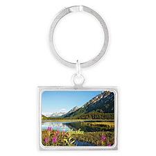 Scenic Alaska, Labeled Landscape Keychain