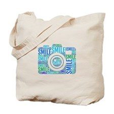 Camera smile Tote Bag