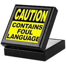 Contains Foul Language Keepsake Box