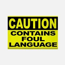 Contains Foul Language Wide Rectangle Magnet