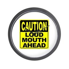 Loud Mouth Ahead Wall Clock