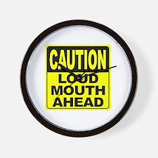 Loud Mouth Ahead Wall Clock