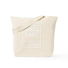 Speed limit math Tote Bag