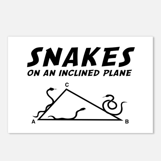 Snakes inclined plane Postcards (Package of 8)