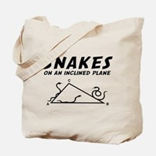Snakes inclined plane Tote Bag