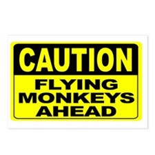Flying Monkeys Ahead Wide Postcards (Package of 8)