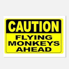 Flying Monkeys Ahead Wide Postcards (Package of 8)