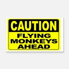 Flying Monkeys Ahead Wide Rectangle Car Magnet