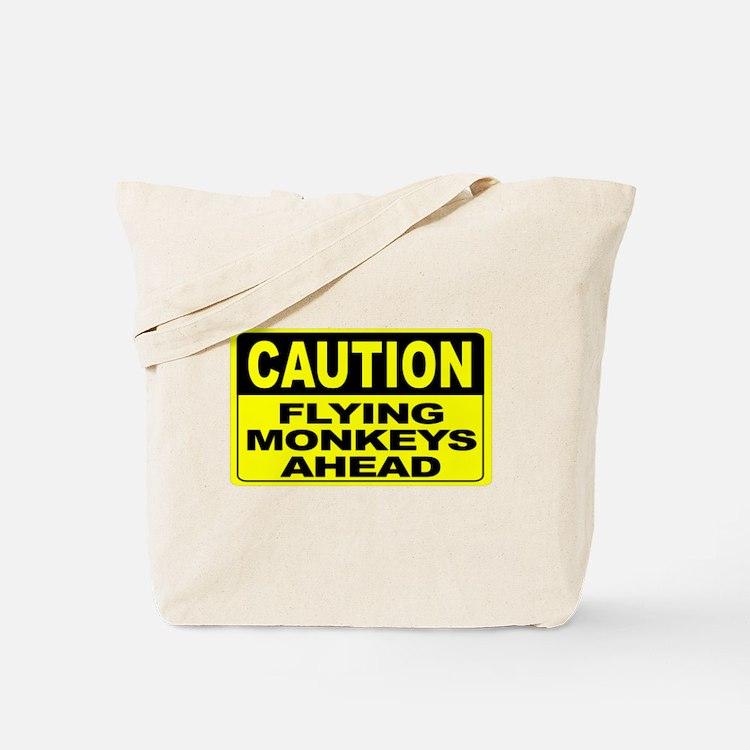 Flying Monkeys Ahead Wide Tote Bag