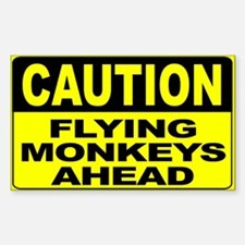 Flying Monkeys Ahead Wide Decal