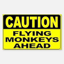 Flying Monkeys Ahead Wide Sticker (Rectangle)