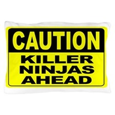 Killer Ninjas Ahead Wide Pillow Case