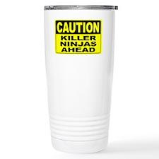Killer Ninjas Ahead Wid Travel Mug