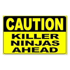 Killer Ninjas Ahead Wide Decal