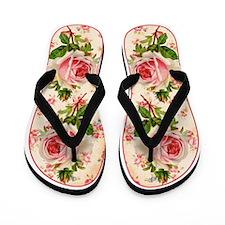 Vintage Rose Flip Flops