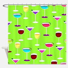Bottoms Up Pattern Shower Curtain