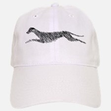 Leaping Scottish Deerhound Baseball Baseball Cap