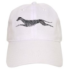 Leaping Scottish Deerhound Baseball Cap