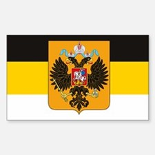 Russian Empire Flag Rectangle Decal