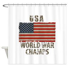USA, World War Champs Shower Curtain