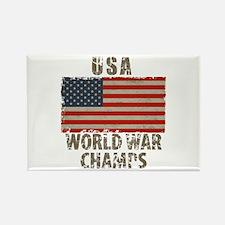 USA, World War Champs Rectangle Magnet