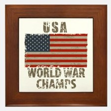 USA, World War Champs Framed Tile