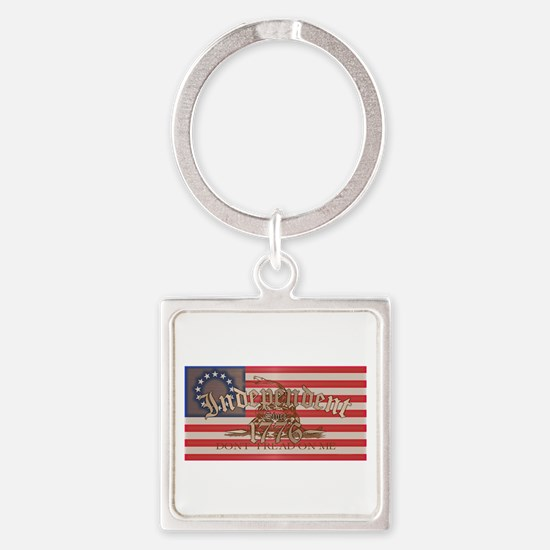 Independent Square Keychain