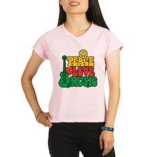 Reggae Peace Love Music Performance Dry T-Shirt