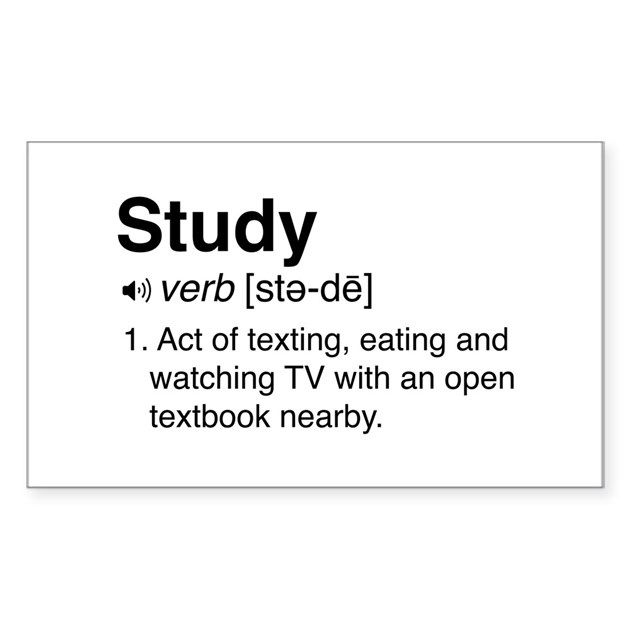 Study definition decal by schoolgeek Stickers definition