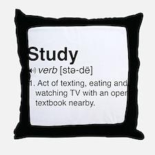 Study definition Throw Pillow
