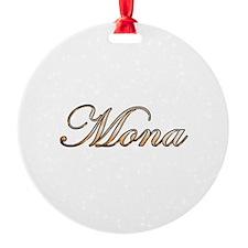 Gold Mona Ornament