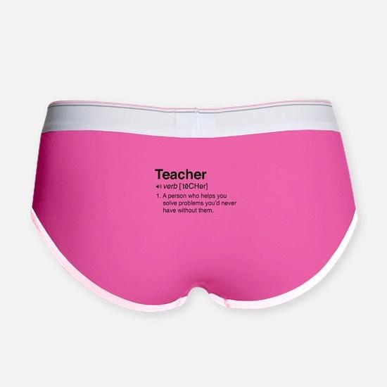 Teacher Definition Women's Boy Brief