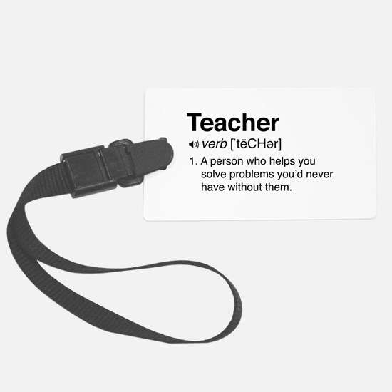 Teacher Definition Luggage Tag