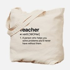 Teacher Definition Tote Bag
