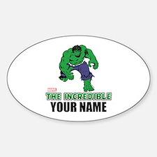 The Incredible Hulk Personalized De Sticker (Oval)