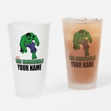 The Incredible Hulk Personalized De Drinking Glass
