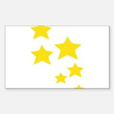 Yellow Stars Decal