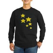 Yellow Stars Long Sleeve T-Shirt