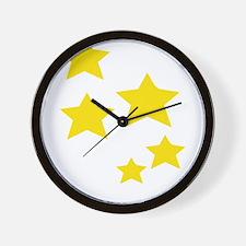 Cute Gold star Wall Clock