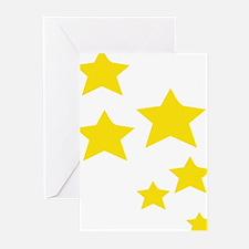 Yellow Stars Greeting Cards