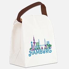 Cute Skylines Canvas Lunch Bag