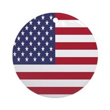 United States Of America Flag Ornament (Round)