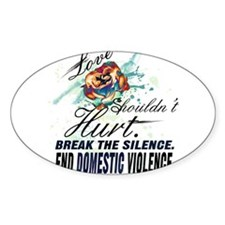 END DOMESTIC VIOLENCE -- Aw Decal