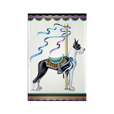 Great Dane Mantle Carousel Rectangle Magnet