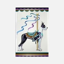Great Dane Mantle Carousel Rectangle Magnet