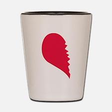 Cute Broken heart Shot Glass