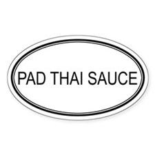 PAD THAI SAUCE (oval) Oval Decal