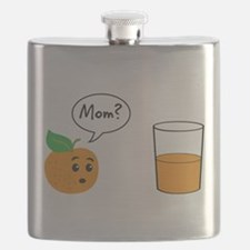 Orange Juice Mom Flask