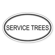 SERVICE TREES (oval) Oval Decal